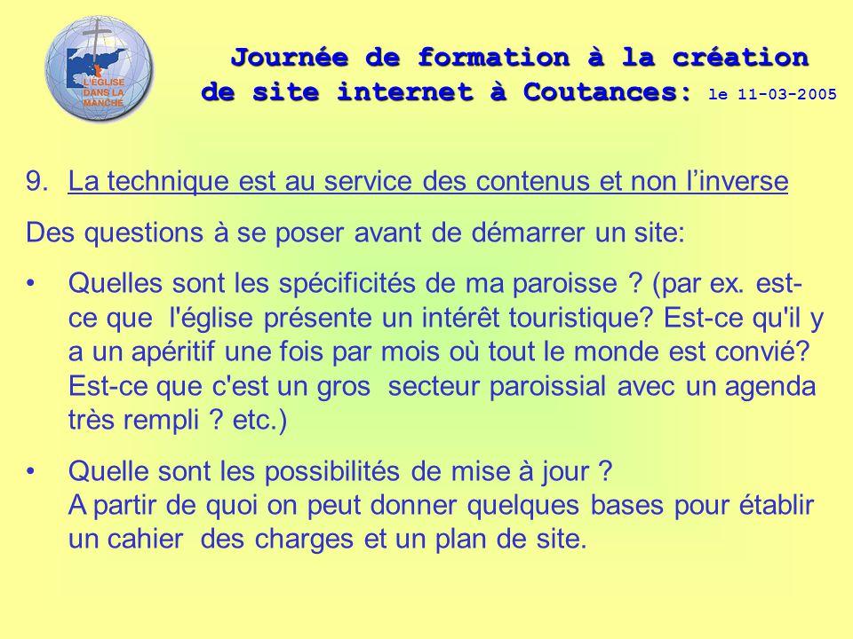 Journée de formation à la création de site internet à Coutances: le 11-03-2005