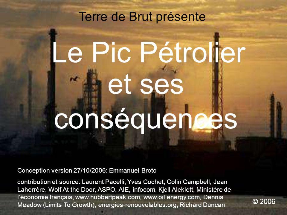 Le Pic Pétrolier et ses conséquences Terre de Brut présente © 2006