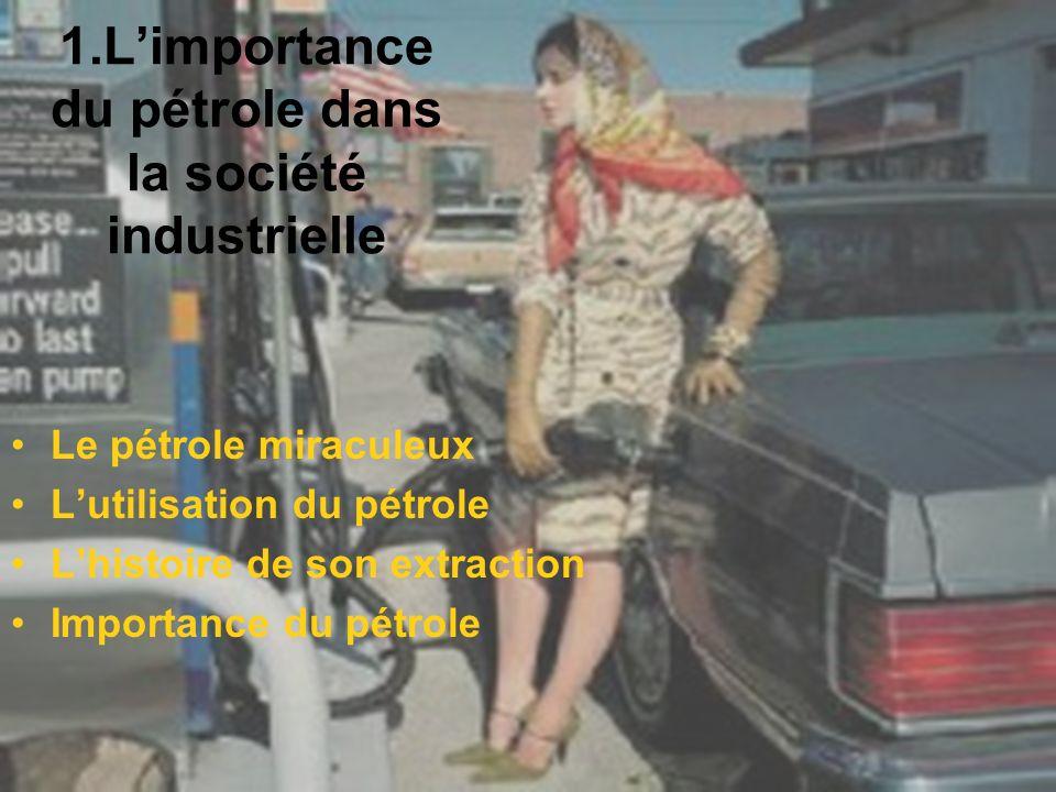 1.L'importance du pétrole dans la société industrielle