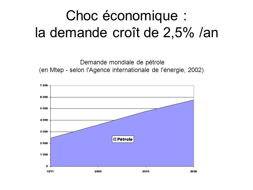 Choc économique : la demande croît de 2,5% /an