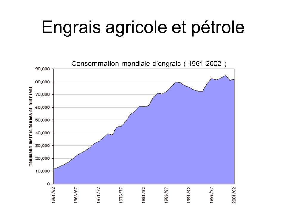 Engrais agricole et pétrole