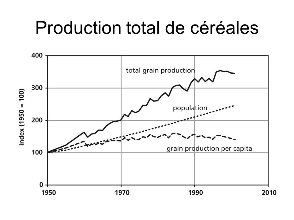 Production total de céréales
