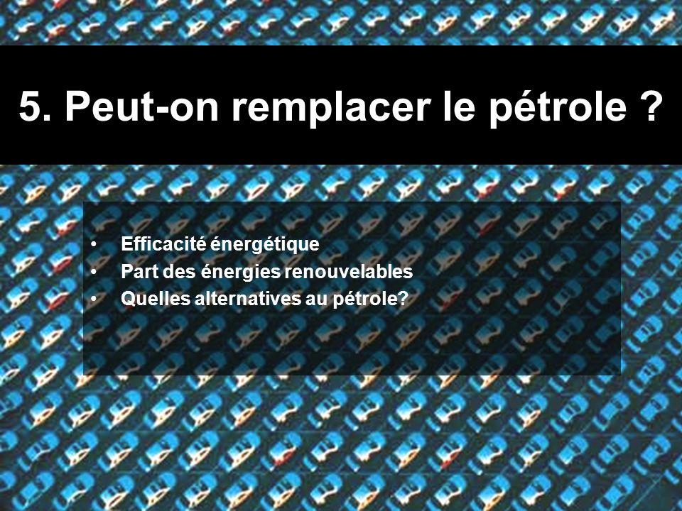5. Peut-on remplacer le pétrole