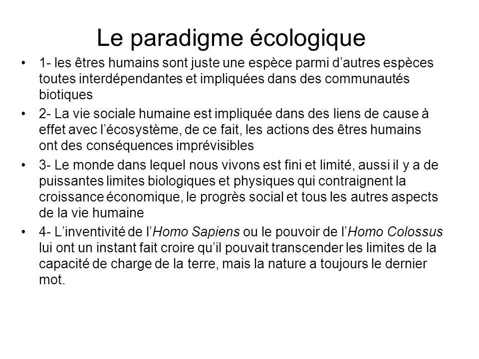 Le paradigme écologique