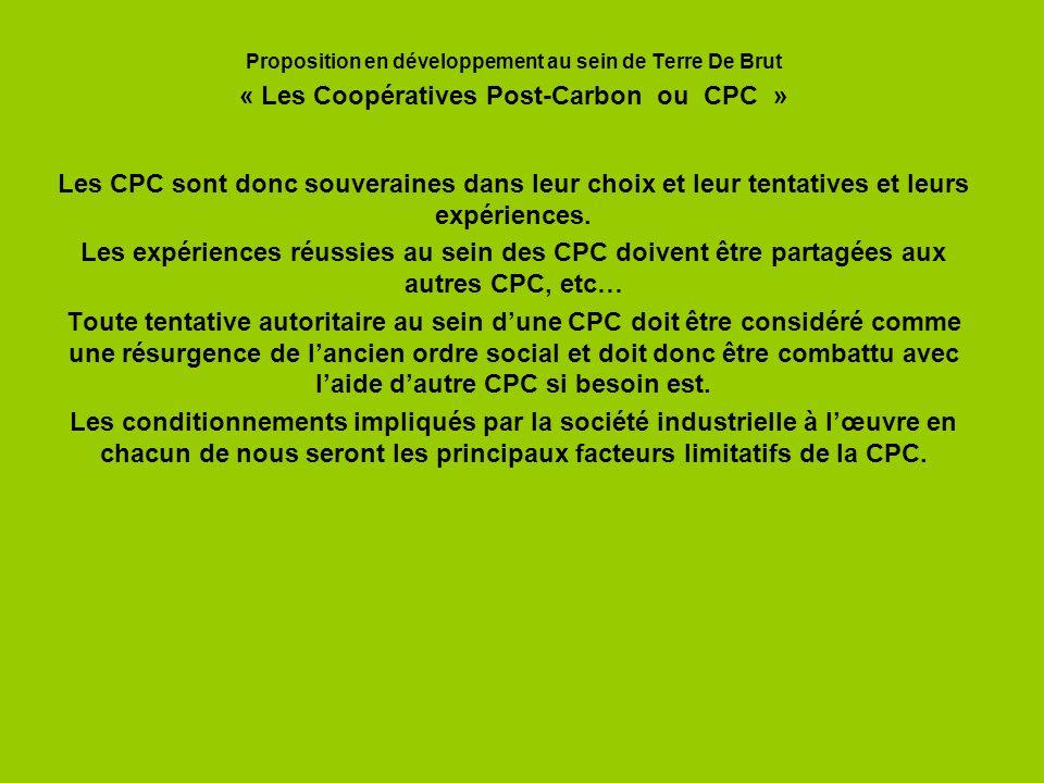 « Les Coopératives Post-Carbon ou CPC »