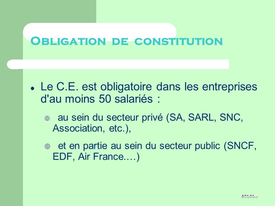 Obligation de constitution