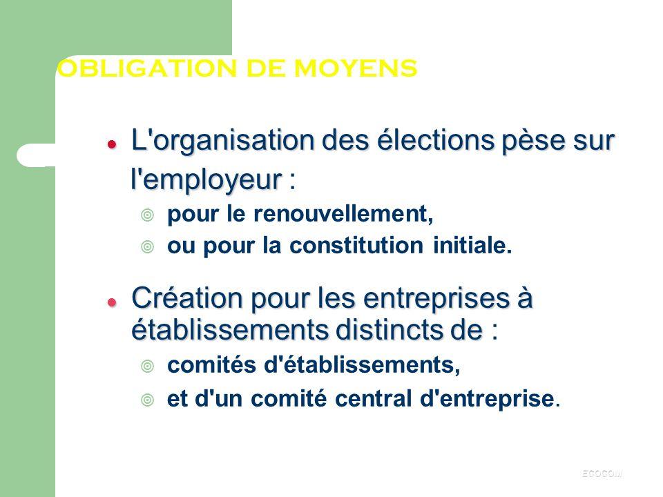 L organisation des élections pèse sur l employeur :