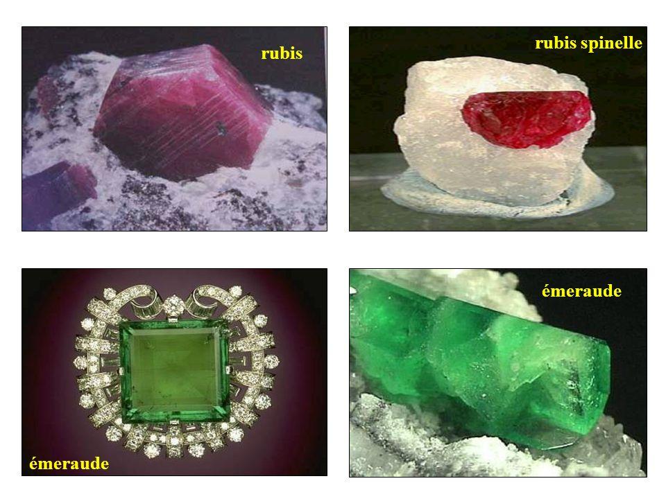 rubis rubis spinelle émeraude émeraude