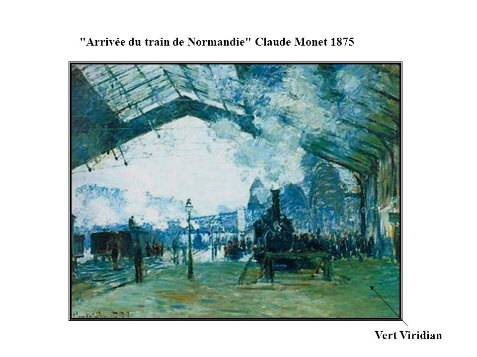 Arrivée du train de Normandie Claude Monet 1875
