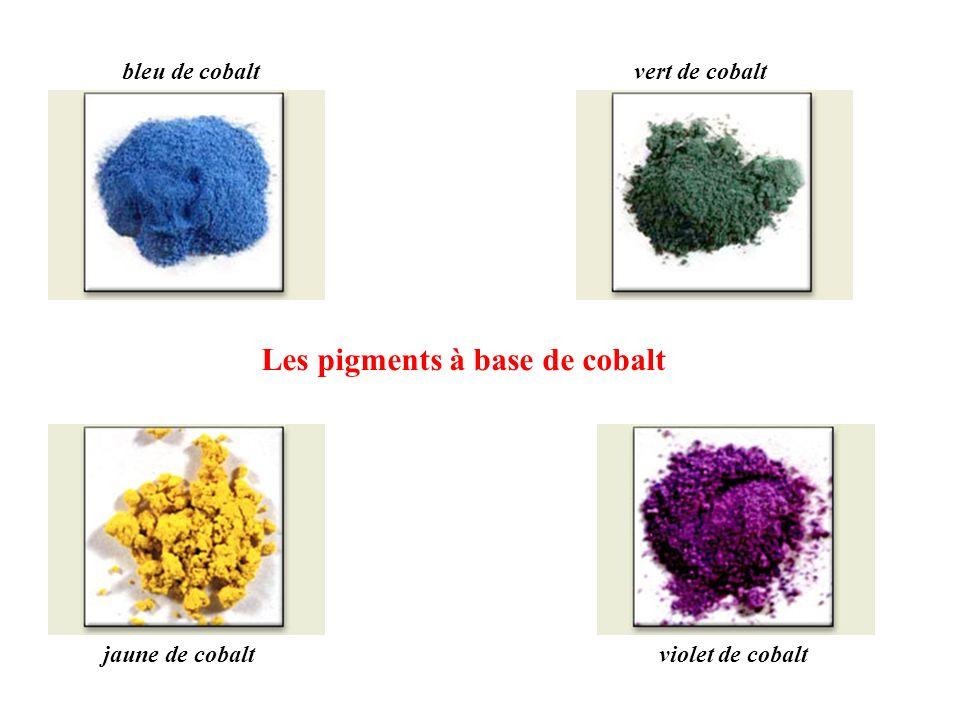 Les pigments à base de cobalt