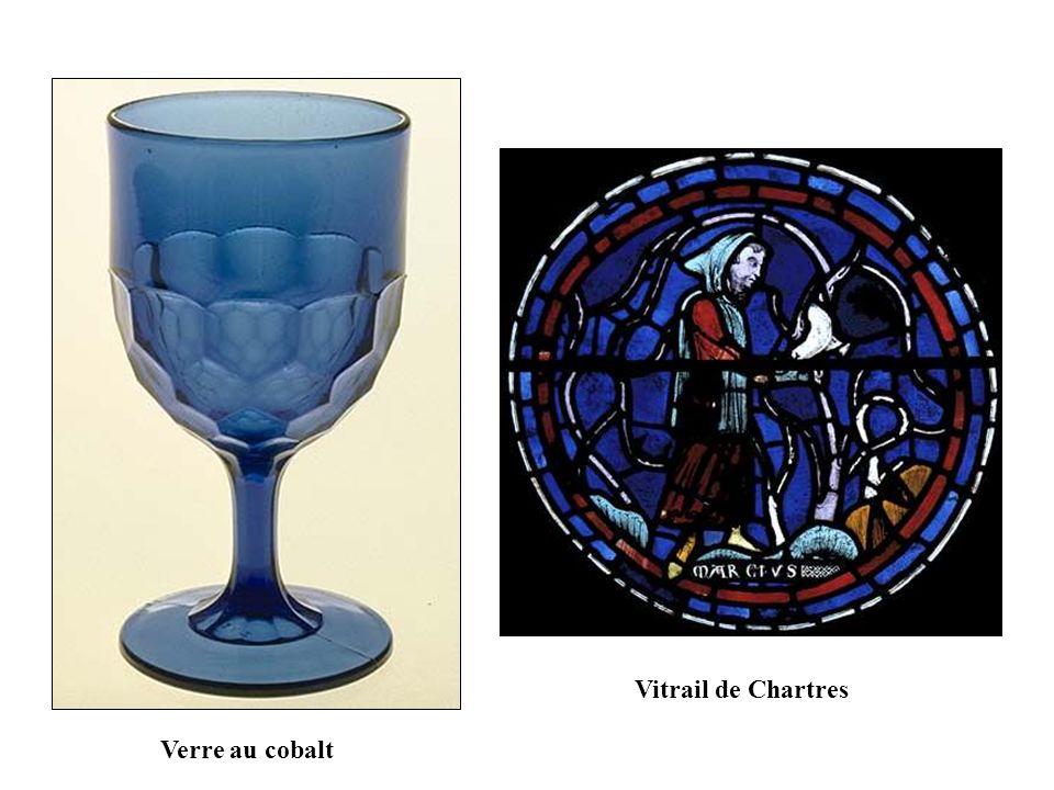Vitrail de Chartres Verre au cobalt