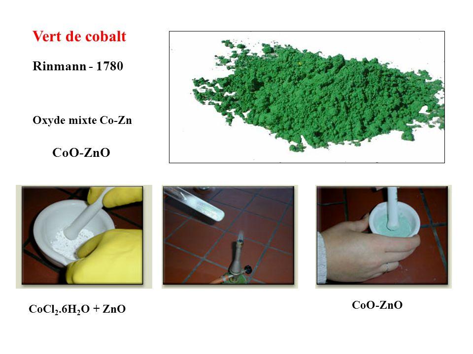 Vert de cobalt Rinmann - 1780 CoO-ZnO Oxyde mixte Co-Zn CoO-ZnO