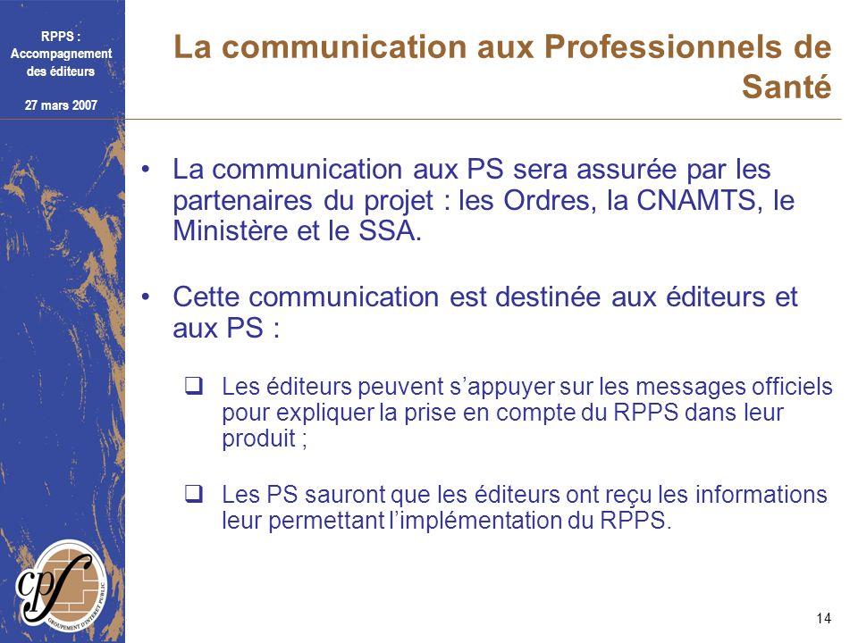 La communication aux Professionnels de Santé
