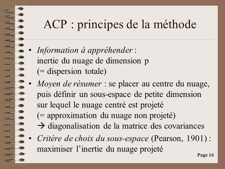 ACP : principes de la méthode