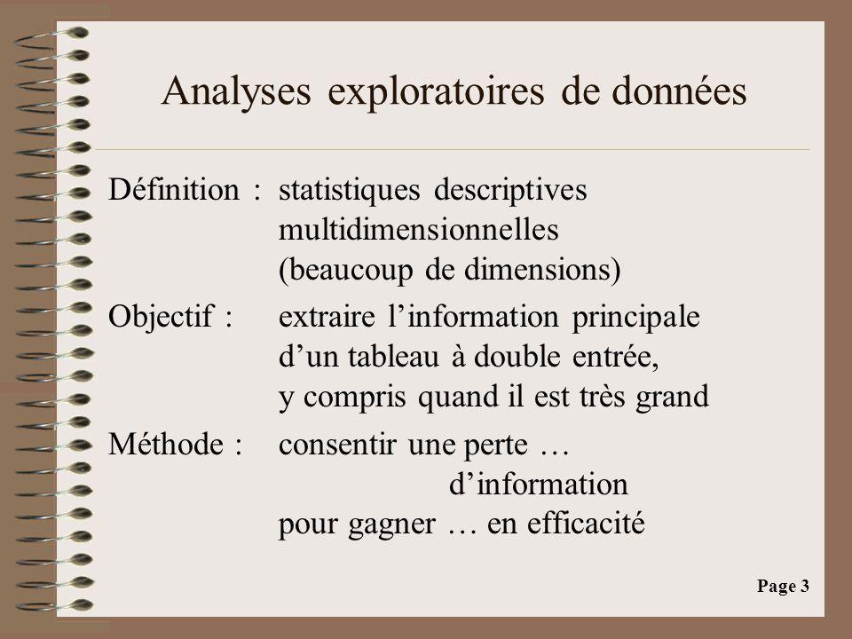 Analyses exploratoires de données