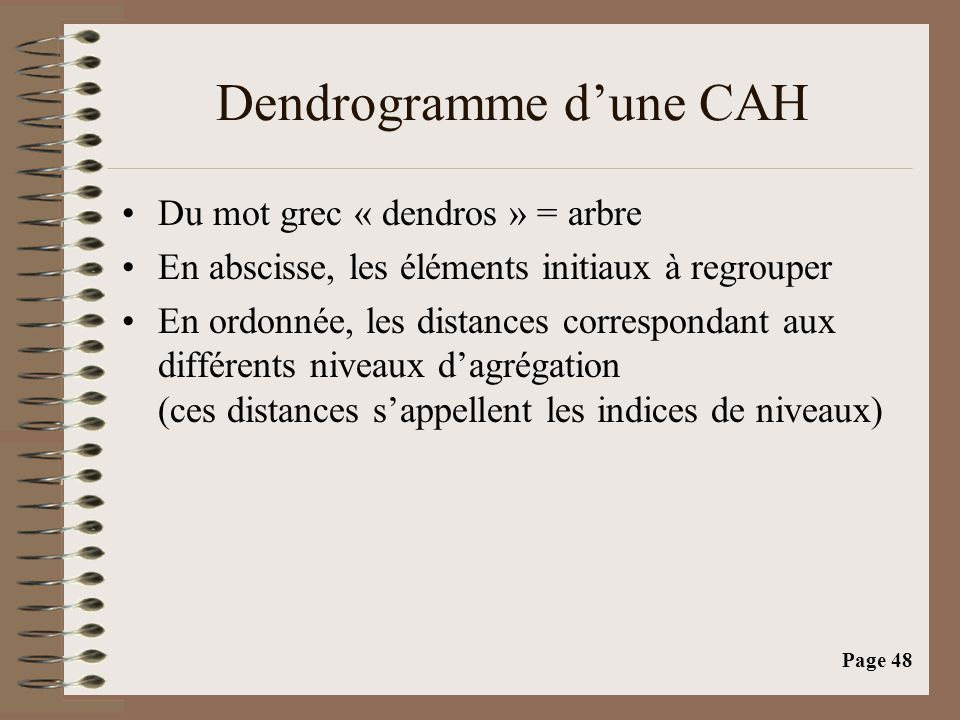 Dendrogramme d'une CAH