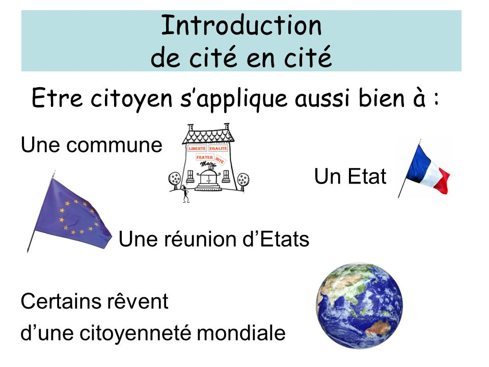 Introduction de cité en cité