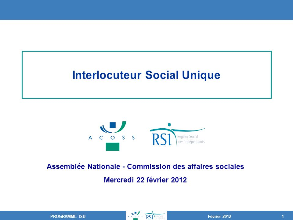 Interlocuteur Social Unique