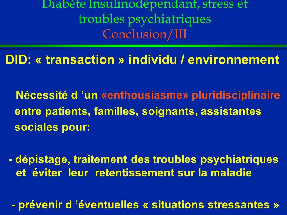 DID: « transaction » individu / environnement