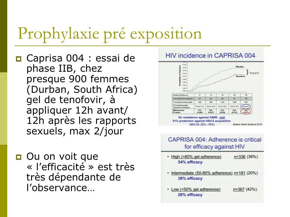 Prophylaxie pré exposition