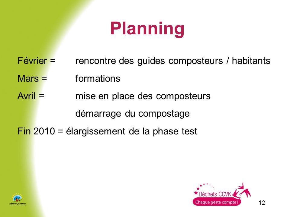 Planning Février = rencontre des guides composteurs / habitants