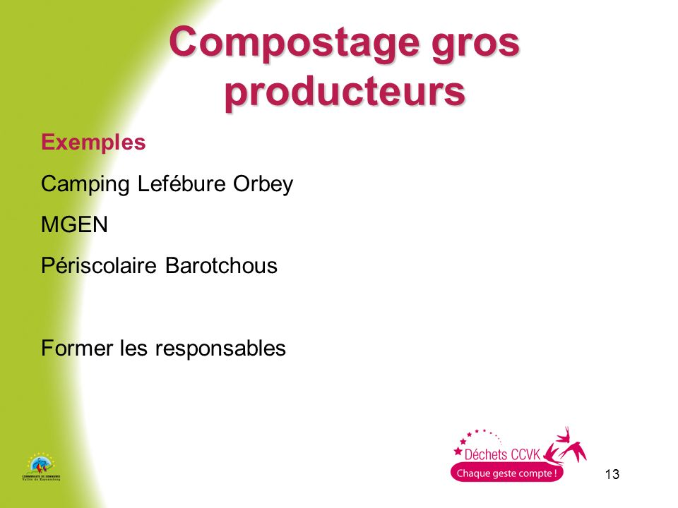 Compostage gros producteurs