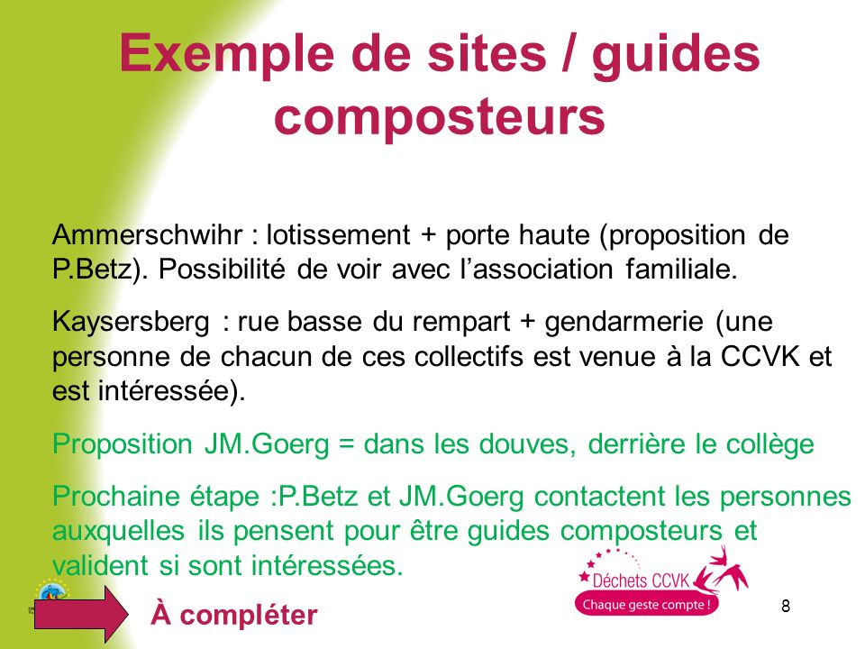 Exemple de sites / guides composteurs