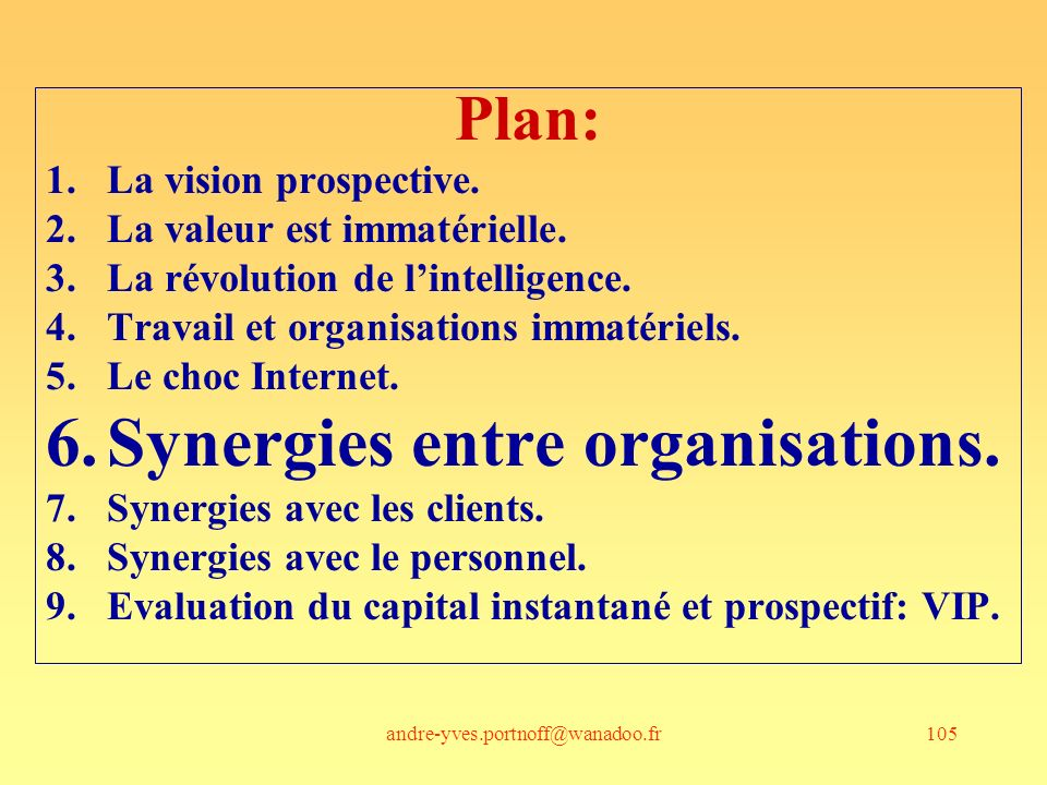 Synergies entre organisations.