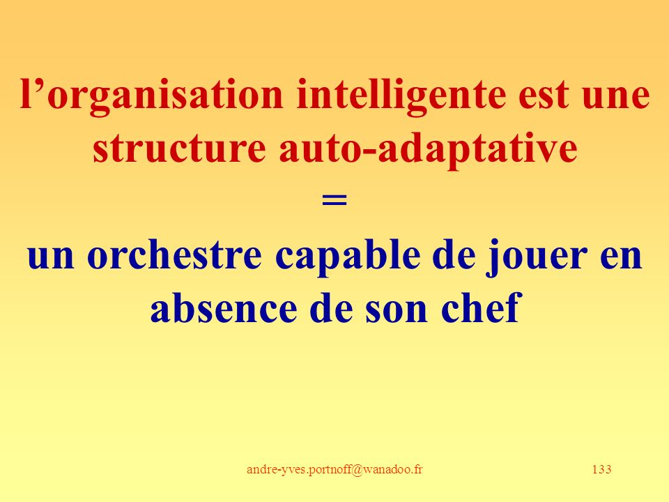 l'organisation intelligente est une structure auto-adaptative =