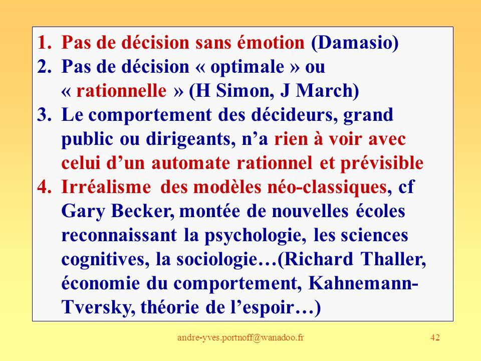 Pas de décision sans émotion (Damasio)