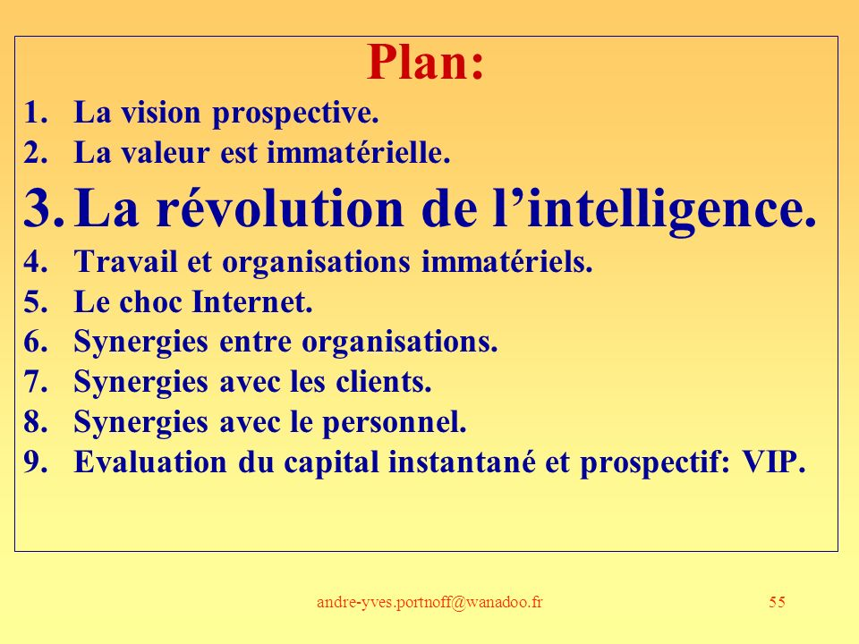 La révolution de l'intelligence.