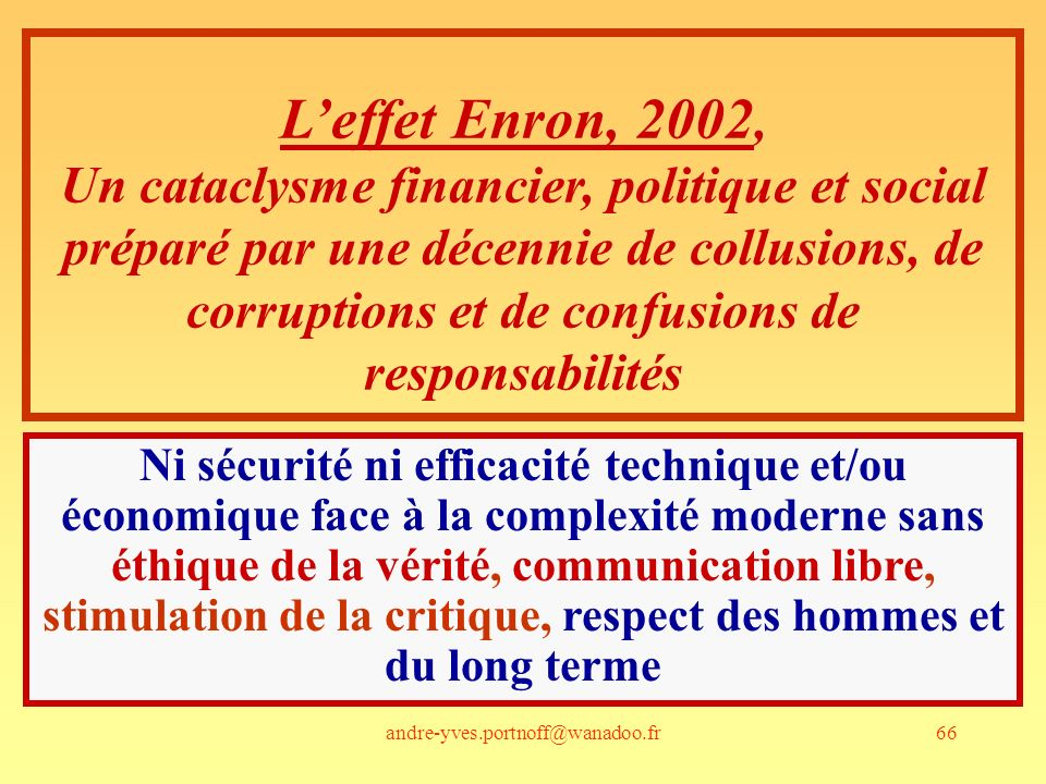 L'effet Enron, 2002,