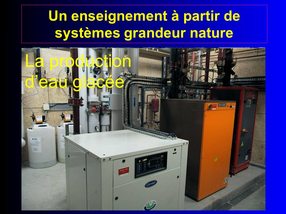 Un enseignement à partir de systèmes grandeur nature