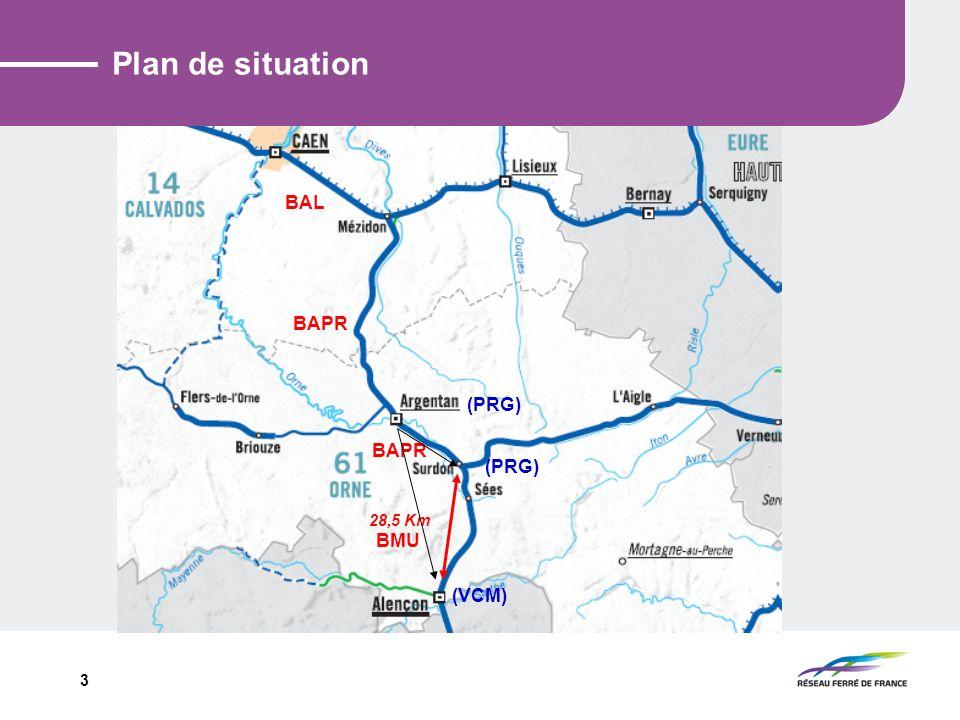 Plan de situation BAL BAPR (PRG) BAPR (PRG) 28,5 Km BMU (VCM)