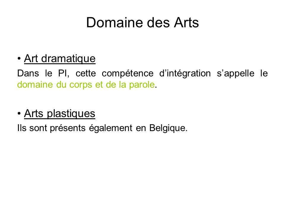 Domaine des Arts Art dramatique Arts plastiques