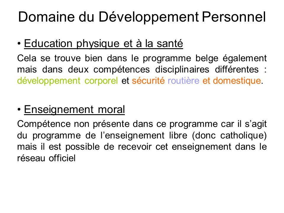 Domaine du Développement Personnel