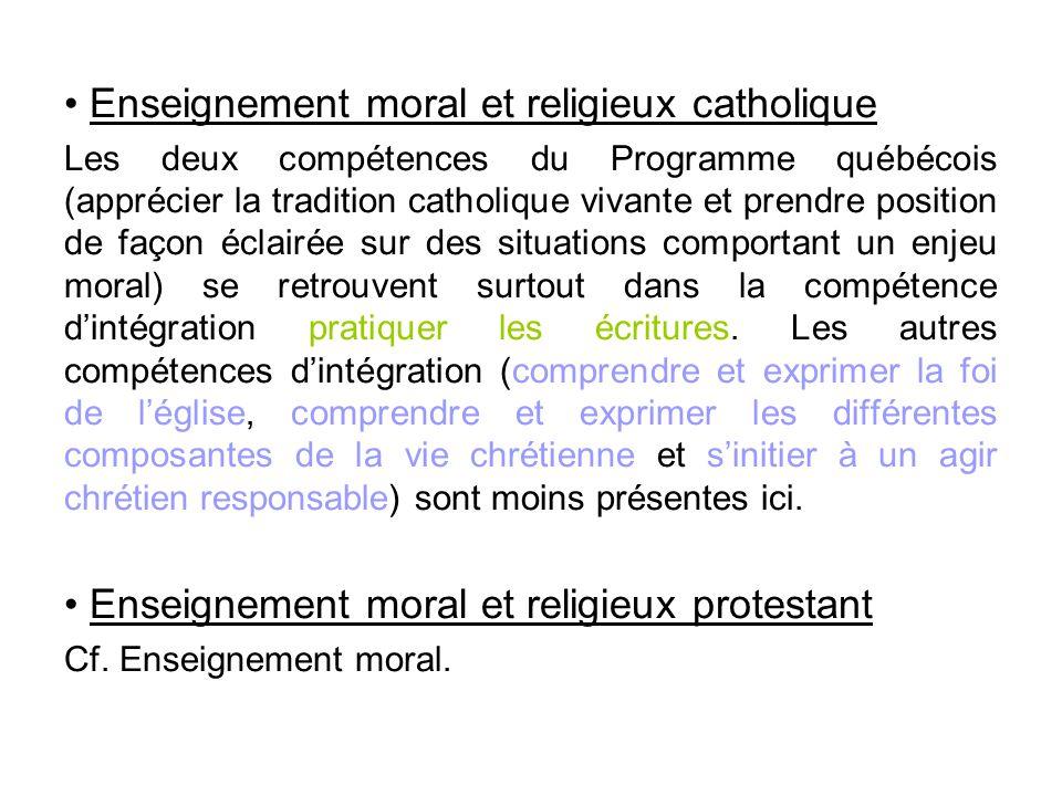 Enseignement moral et religieux catholique