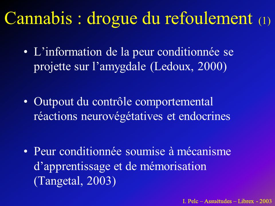 Cannabis : drogue du refoulement (1)
