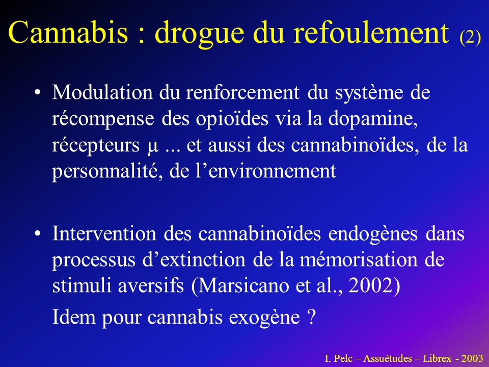 Cannabis : drogue du refoulement (2)