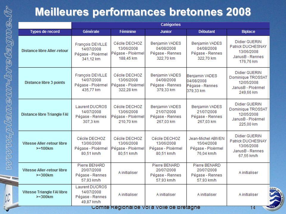 Meilleures performances bretonnes 2008