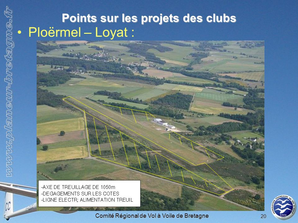 Points sur les projets des clubs