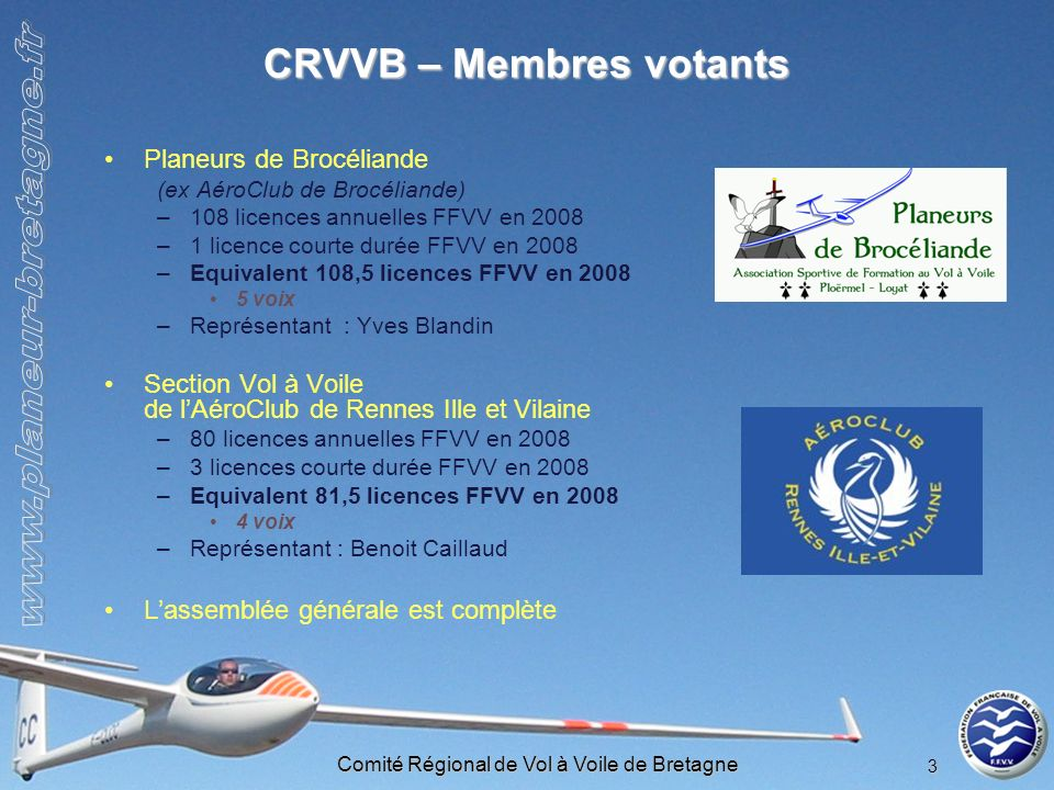 CRVVB – Membres votants
