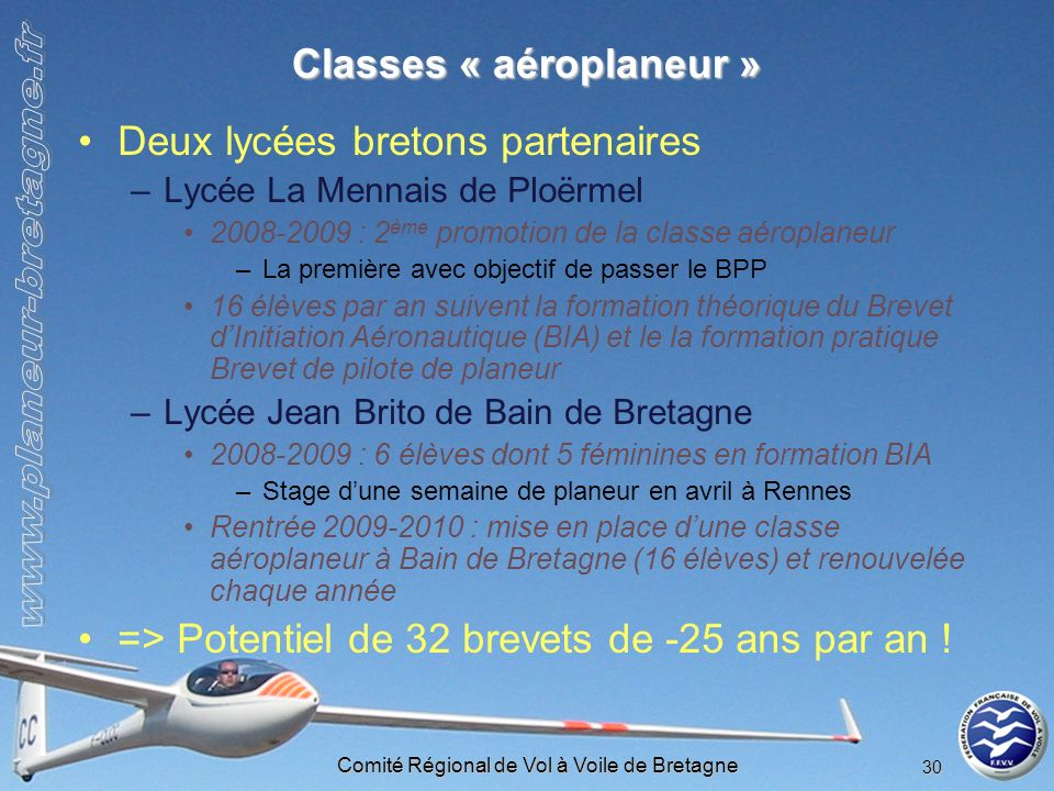 Classes « aéroplaneur »