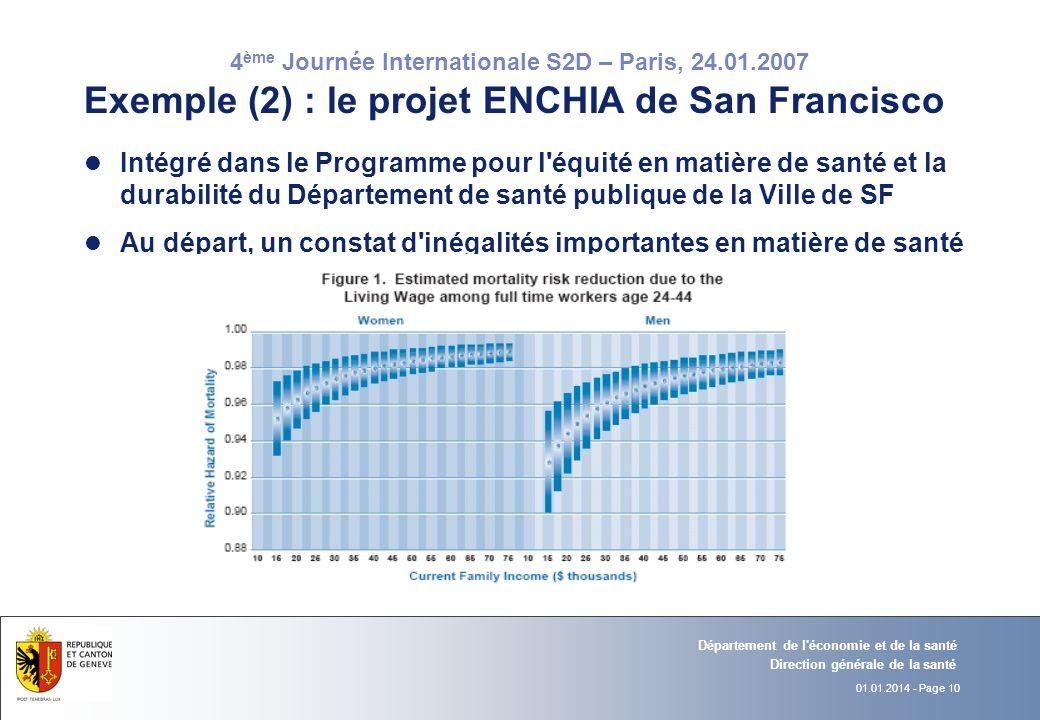Exemple (2) : le projet ENCHIA de San Francisco