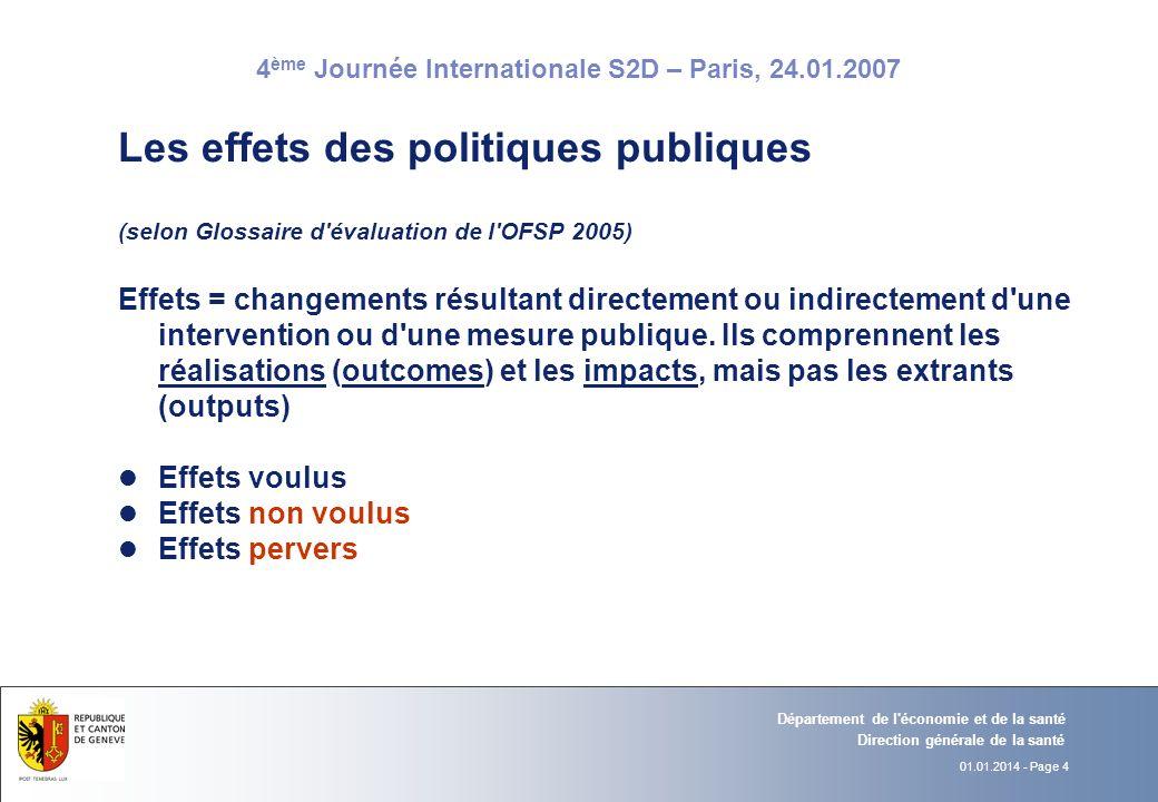 Les effets des politiques publiques