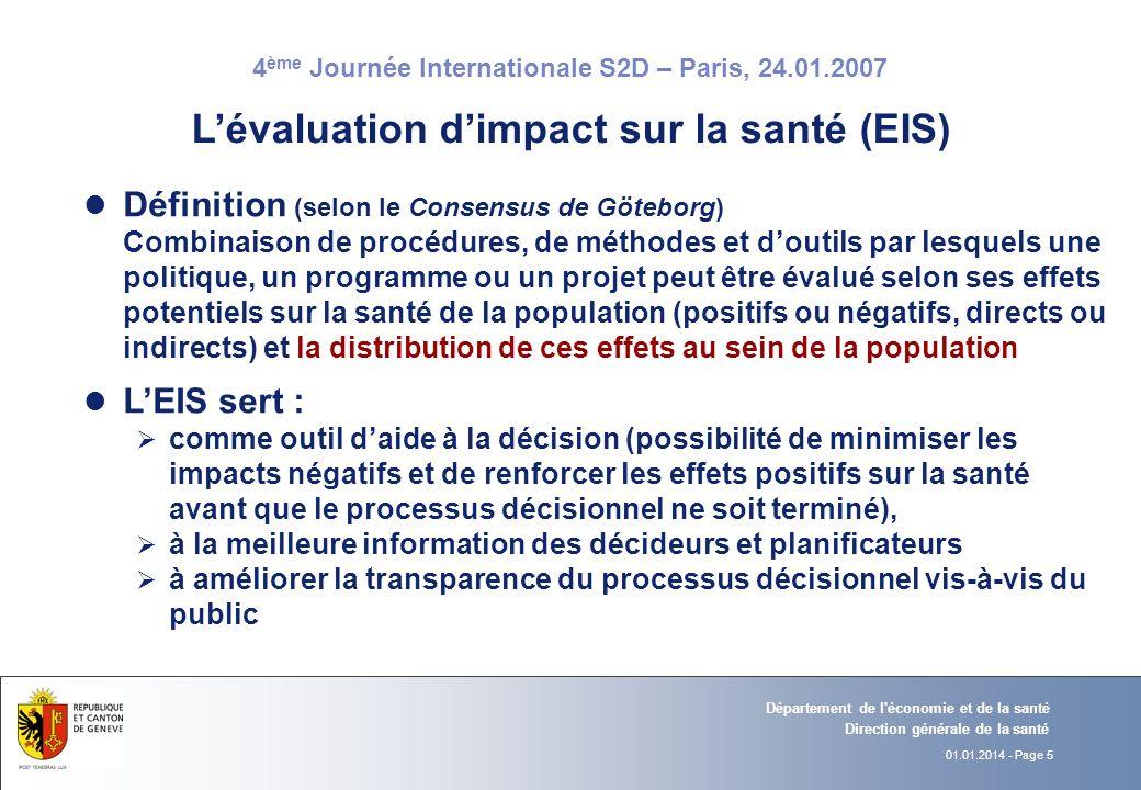 L'évaluation d'impact sur la santé (EIS)