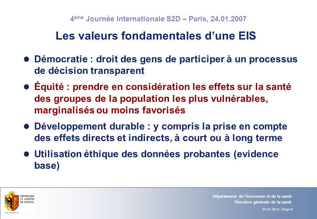 Les valeurs fondamentales d'une EIS