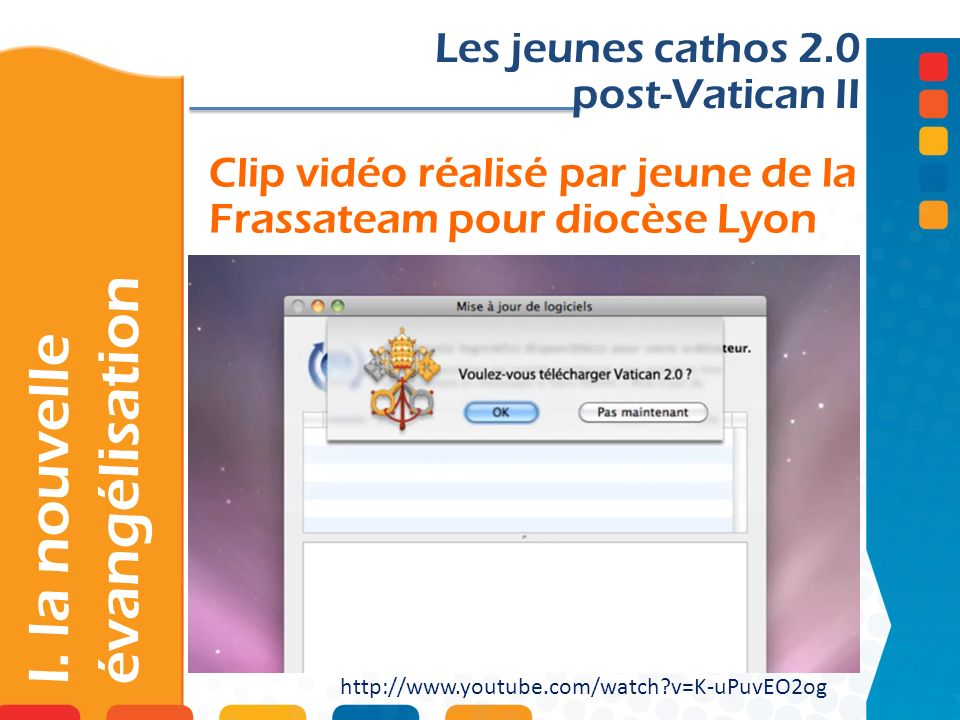 Clip vidéo réalisé par jeune de la Frassateam pour diocèse Lyon