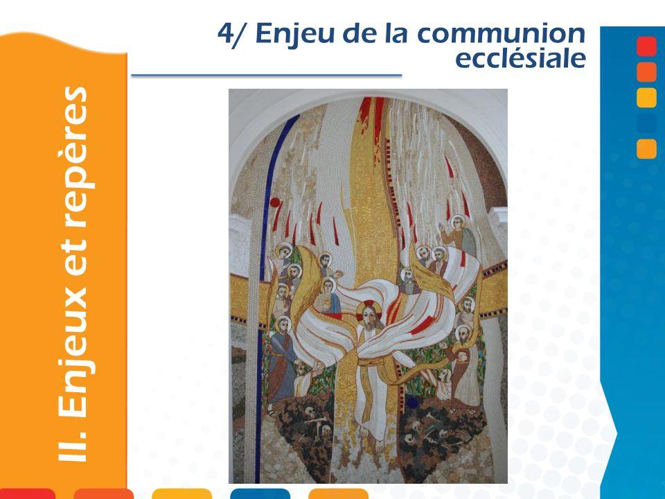4/ Enjeu de la communion ecclésiale
