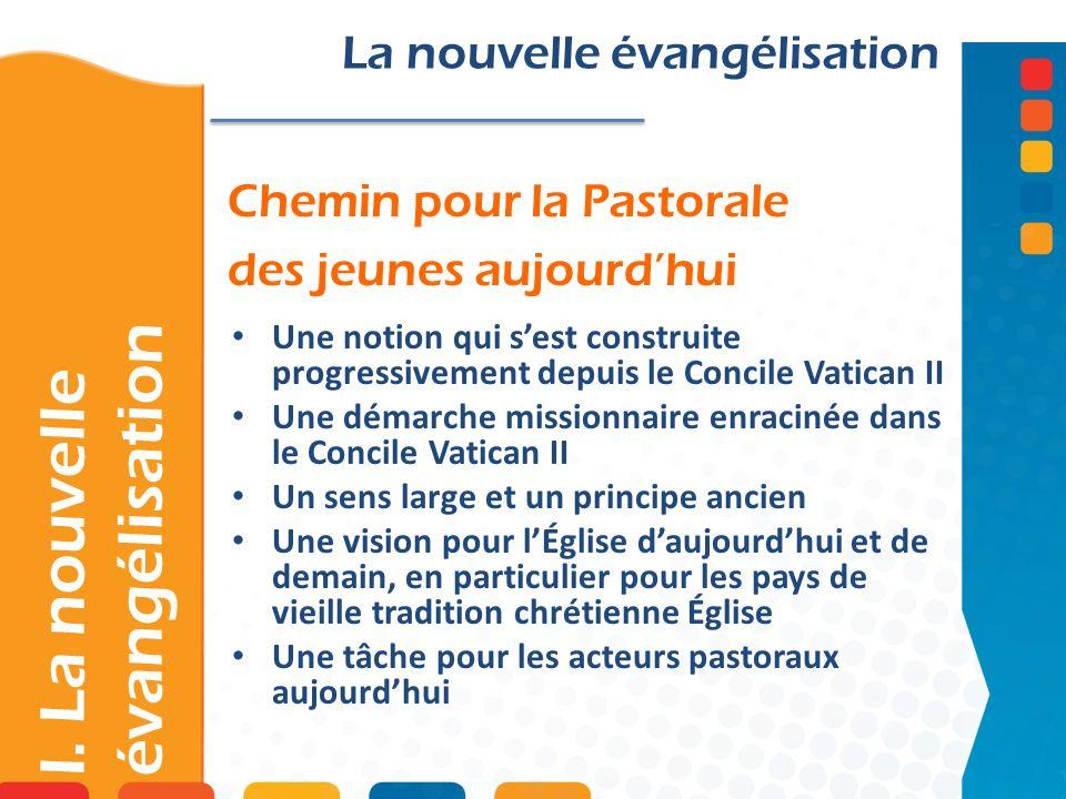 I. La nouvelle évangélisation